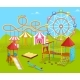 Amusement Park Attractions for Kids Playground - GraphicRiver Item for Sale