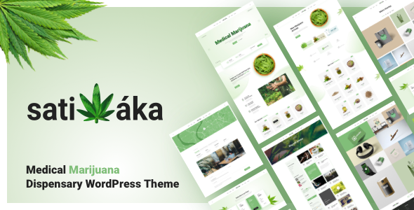 Sativaka - Medical Marijuana Dispensary WordPress