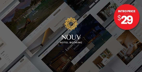 Nouv – Hotel Booking WordPress Theme Preview