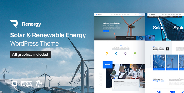 Renergy - Solar and Renewable Energy WordPress Theme