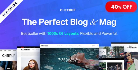 CheerUp - Blog/Magazine & Travel WordPress