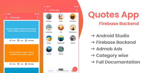 Codecanyon | Quotes app with firebase backend and admob ads Free Download #1 free download Codecanyon | Quotes app with firebase backend and admob ads Free Download #1 nulled Codecanyon | Quotes app with firebase backend and admob ads Free Download #1