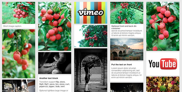 jQuery pinterest style gallery plugin