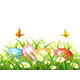 Nature Background with Easter Eggs in Grass - GraphicRiver Item for Sale