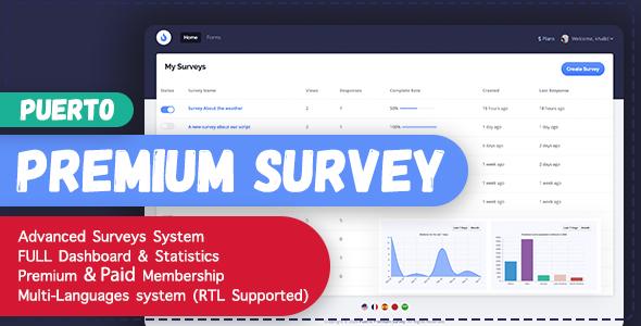 Puerto Premium Survey Builder