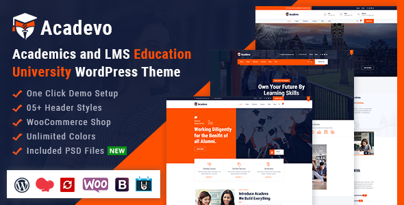 Acadevo - Academics and Education LMS WordPress Theme
