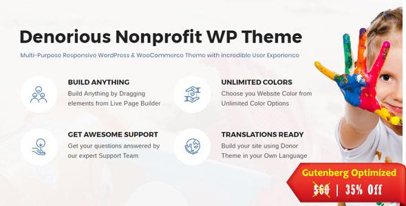 Denorious | Nonprofit and Political WordPress Theme