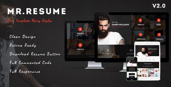 Morgan - Resume, vCard, Personal, Profile and Portfolio WP Theme