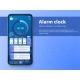 Alarm Clock App Smartphone Interface Vector - GraphicRiver Item for Sale