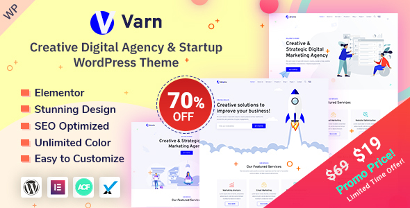 Varn - IT Startup & SEO Agency WordPress Theme