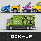 5 in 1 Vehicle Mix Mockup Pack Vol 2 - GraphicRiver Item for Sale