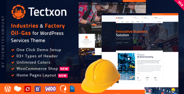 Tectxon - Industry & Factory WordPress Theme
