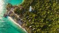 aerial view of the chumbe island coral park, Zanzibar - PhotoDune Item for Sale
