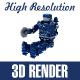 Set of Blue Robot - GraphicRiver Item for Sale