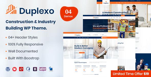 Duplexo – Construction Renovation WordPress Theme