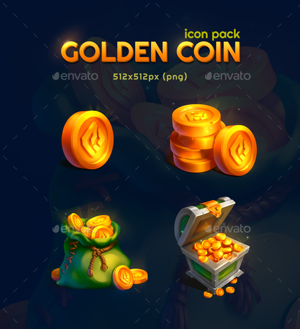 Golden Coin Icon Pack