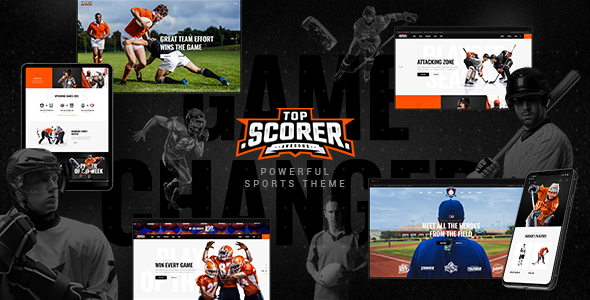 TopScorer – Sports WordPress Theme Preview
