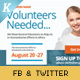 Volunteer Recruitment Facebook & Twitter Image Templates - GraphicRiver Item for Sale