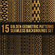Golden Geometric Patterns Seamless Backgrounds Set - GraphicRiver Item for Sale