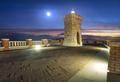 Piombino piazza bovio lighthouse and Elba Island and moonlight. Tuscany Italy - PhotoDune Item for Sale