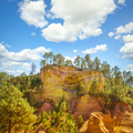 Les Ocres du Roussillon, red rocks and trees. Provence, France - PhotoDune Item for Sale