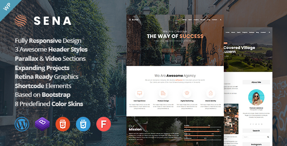 Photo of Sena – Creative MultiPurpose WordPress Theme Full Download