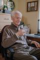 Portrait elderly man drinking water - PhotoDune Item for Sale