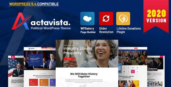 Actavista - A Responsive Political WordPress Theme For Politicians and Organizations