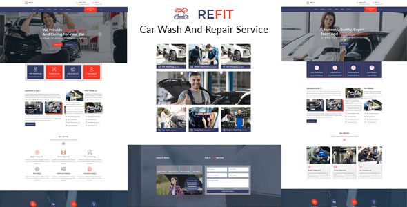 REFIT-Car Wash And Repair Service Muse Template