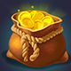 Treasure Golden Game Icons with Chests - GraphicRiver Item for Sale