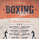 Boxing Night Flyer/Poster - GraphicRiver Item for Sale
