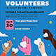 Call for Volunteers Flyer Set - GraphicRiver Item for Sale