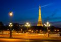 Eiffel Tower and bridge Alexandre - PhotoDune Item for Sale