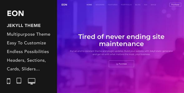 Eon | Multi-Purpose Responsive Jekyll Theme