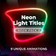 Neon Light Lower Thirds 2 - VideoHive Item for Sale