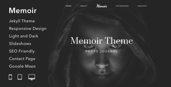 Memoir - Responsive Jekyll Theme for Bloggers Writers and Photographers