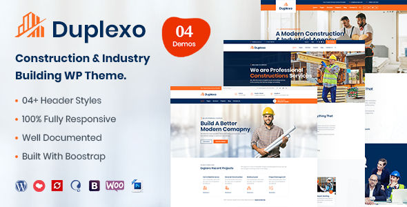 Duplexo – Construction Renovation WordPress Theme