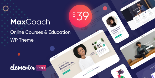 MaxCoach – Online Courses & Education WP Theme Preview