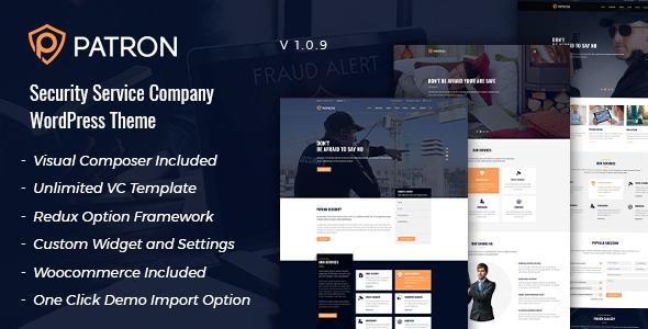 Patron - Security Service Company WordPress Theme