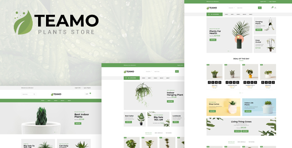 Teamo - Plants Store HTML Template