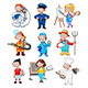 Group of Workers for Children - GraphicRiver Item for Sale