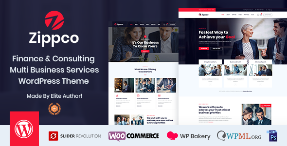Zippco - Business and Finance Consulting WordPress Theme