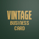 Vintage Personal Business Card - GraphicRiver Item for Sale