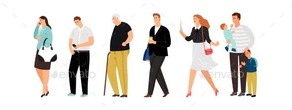 Different People Line Queue