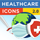 Healthcare Icons (Coronavirus) FULL HD - VideoHive Item for Sale
