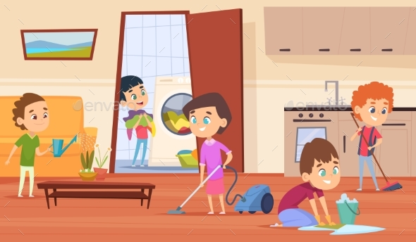 Housework with Family