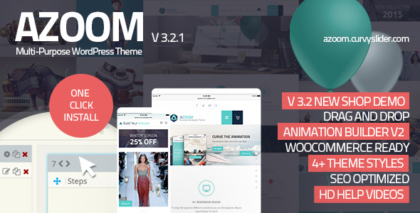 Azoom | Multi-Purpose Theme with Animation Builder Download
