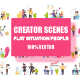 Flat Scene Situation Creator Kit - GraphicRiver Item for Sale
