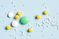 Various Pills on the Blue Background - PhotoDune Item for Sale