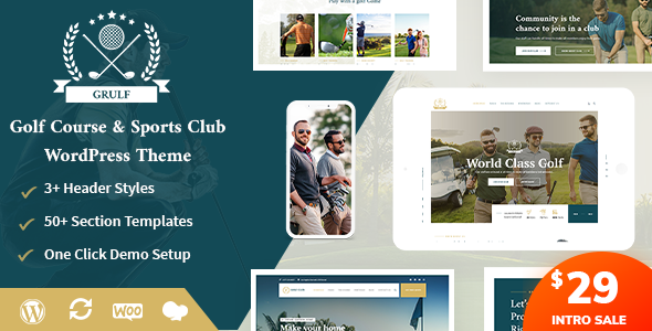 Grulf – Golf Club WordPress Theme Preview